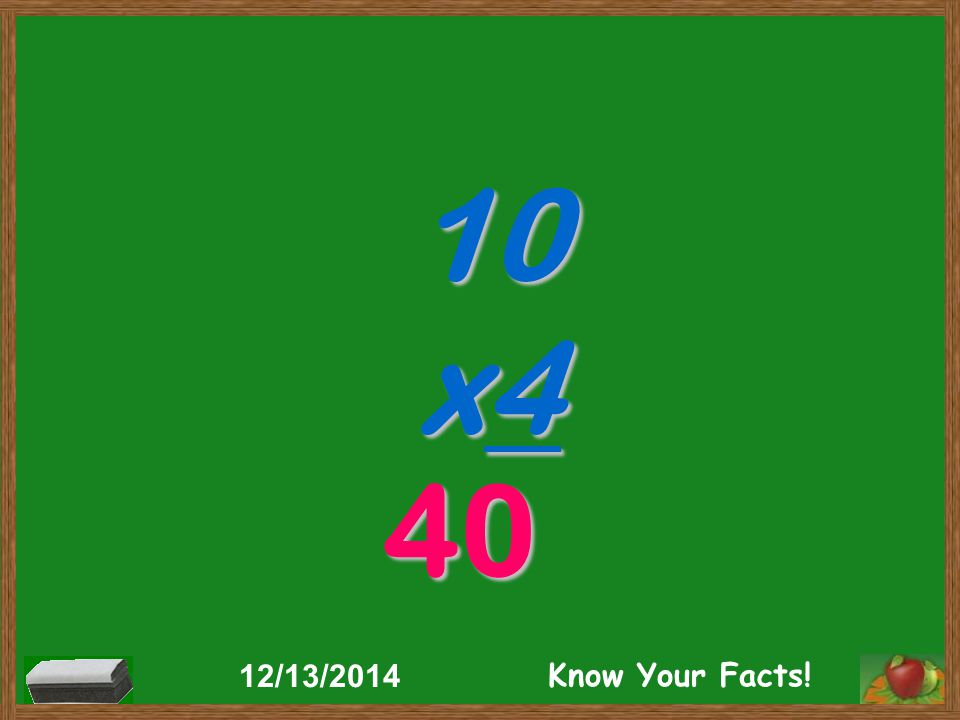 10 x4 40 12/13/2014 Know Your Facts!