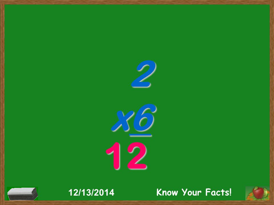 2 x6 12 12/13/2014 Know Your Facts!