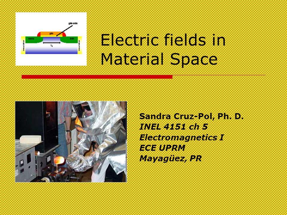 Electric fields in Material Space Sandra Cruz-Pol, Ph.