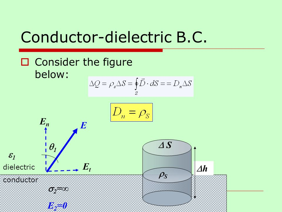 Conductor-dielectric B.C.