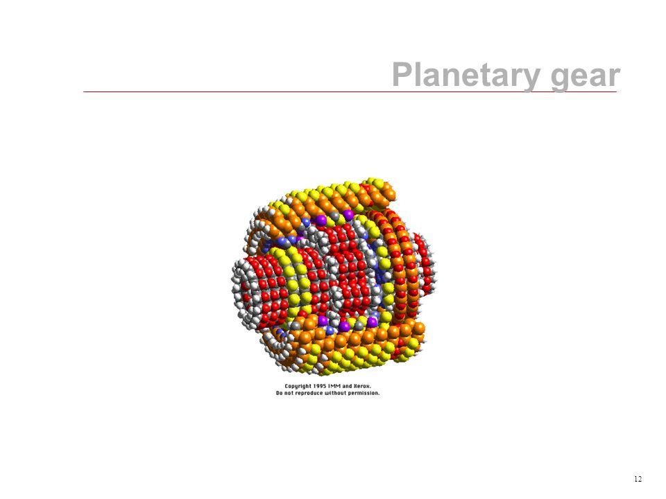 12 Planetary gear