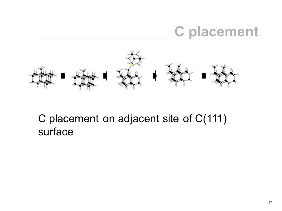 37 C placement C placement on adjacent site of C(111) surface