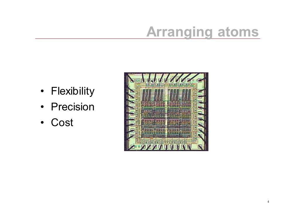 4 Arranging atoms Flexibility Precision Cost