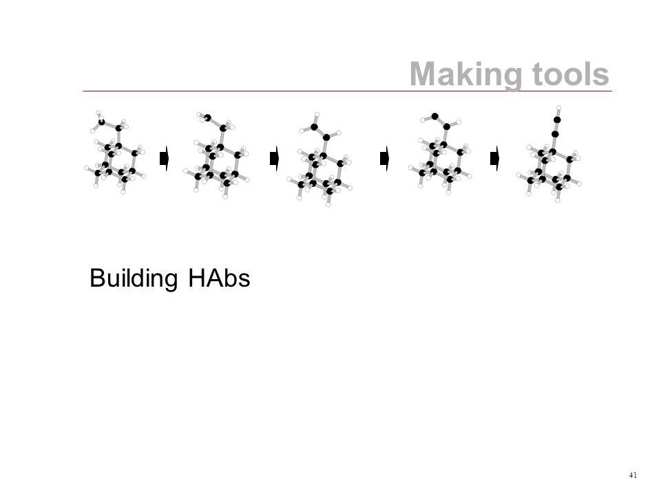 41 Making tools Building HAbs