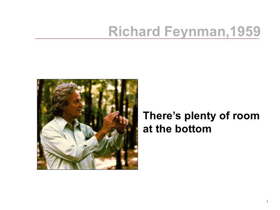 5 Richard Feynman,1959 There's plenty of room at the bottom