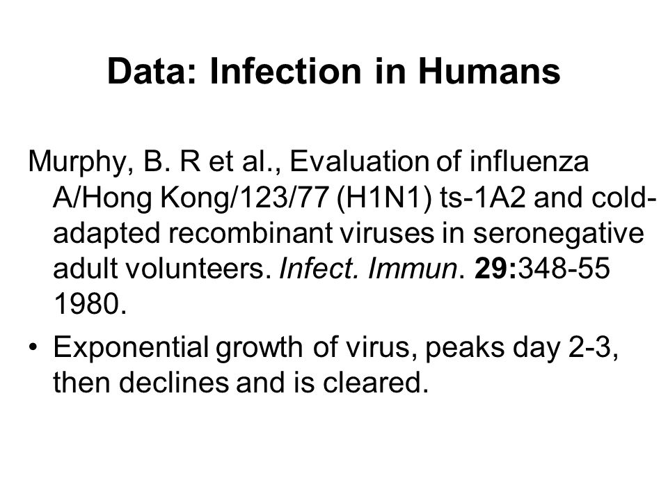 Data: Infection in Humans Murphy, B.