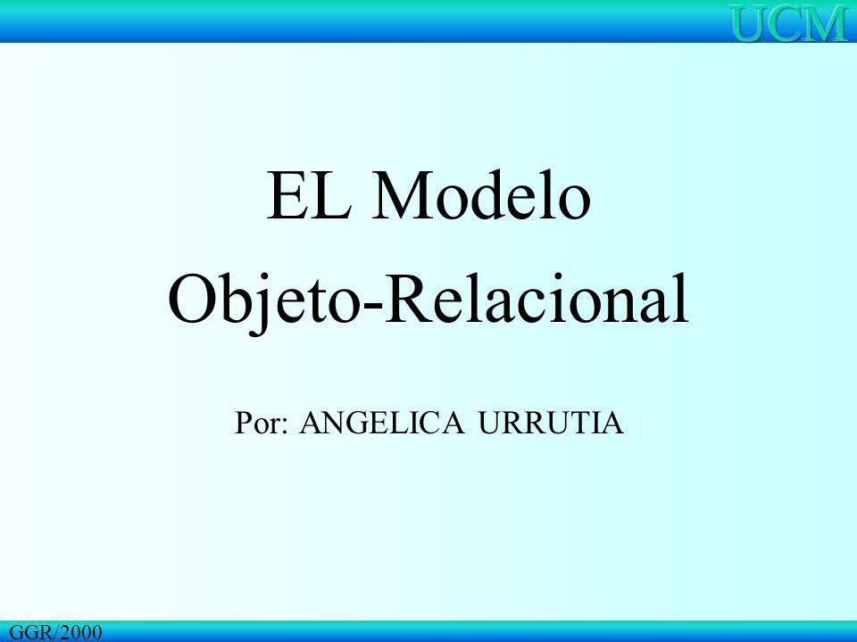 EL Modelo Objeto-Relacional Por: ANGELICA URRUTIA GGR/2000