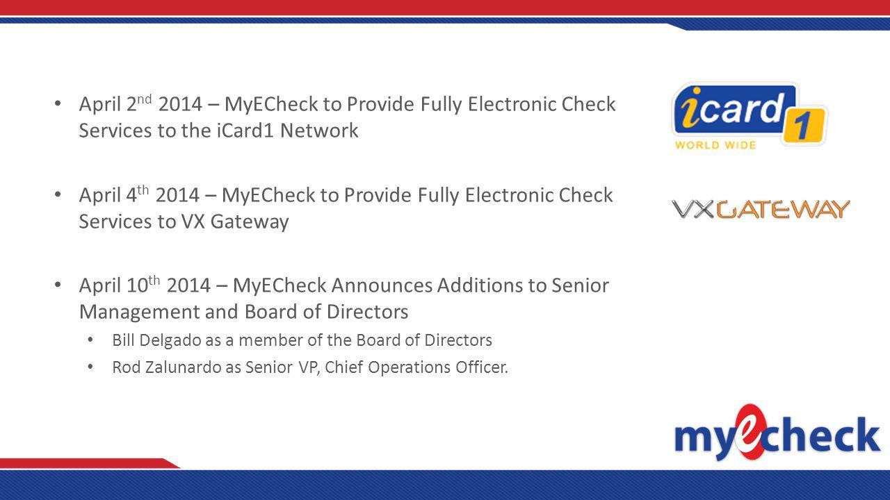 Why Electronic Checks.