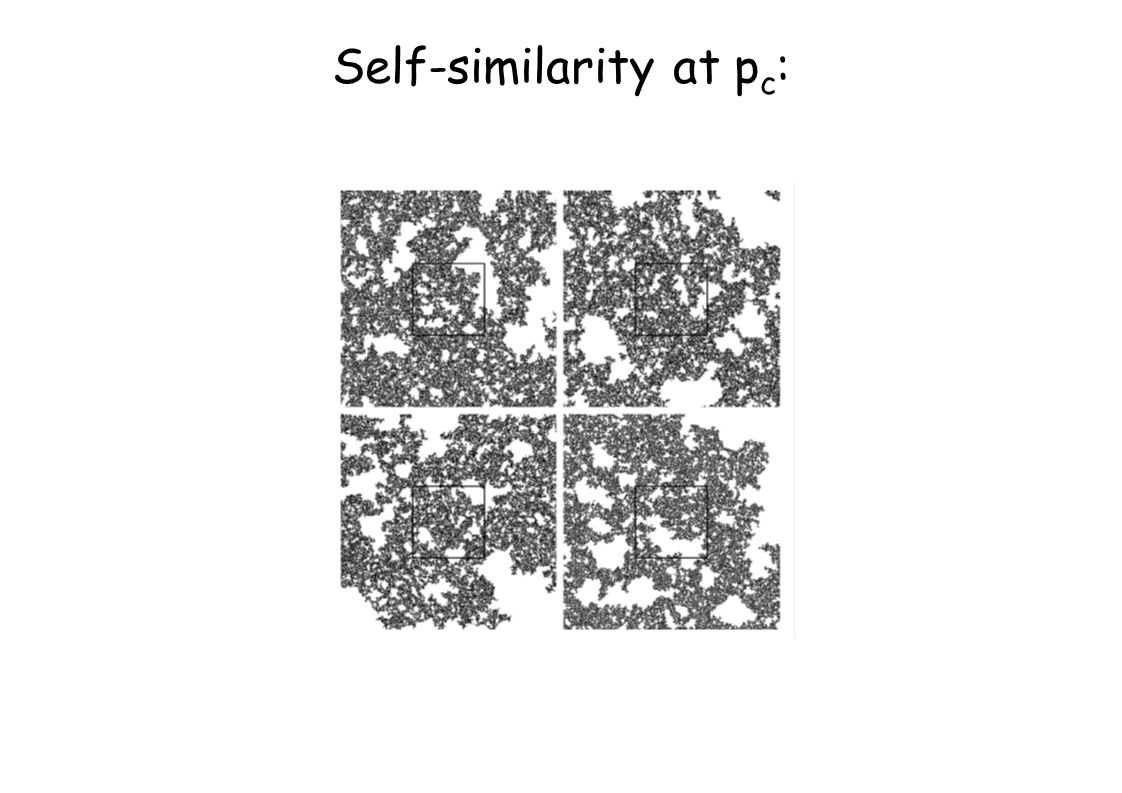 Self-similarity at p c :