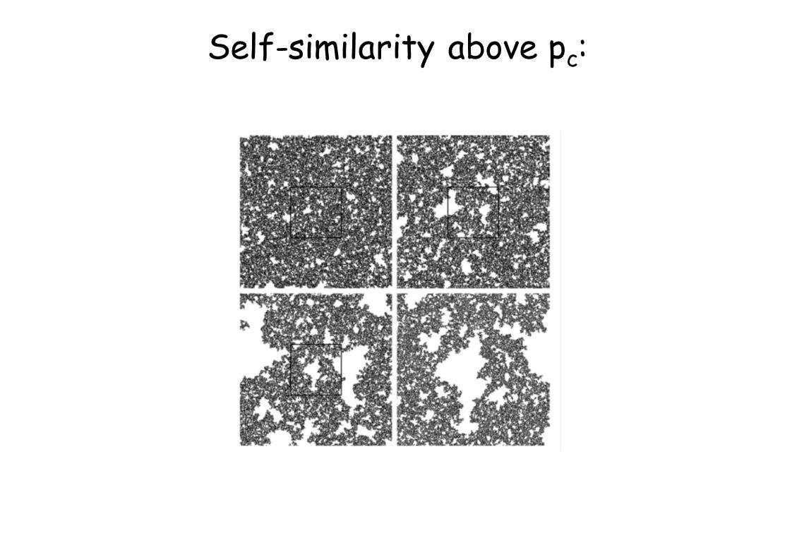 Self-similarity above p c :