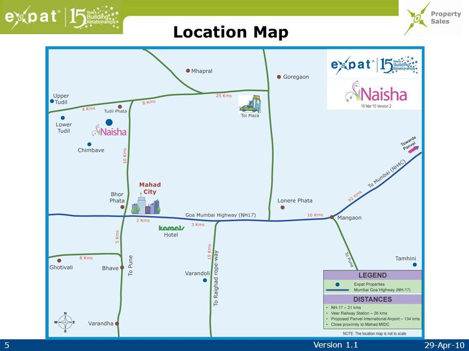 529-Apr-10 Version 1.1 Location Map