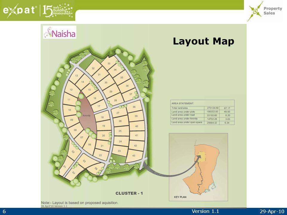 629-Apr-10 Version 1.1 Layout Map