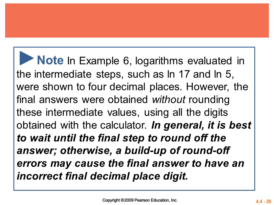 4.4 - 27 Example 7 MODELING DIVERSITY OF SPECIES One measure of the diversity of the species in an ecological community is modeled by the formula where P 1, P 2, …, P n are the proportions of a sample that belong to each of n species found in the sample.