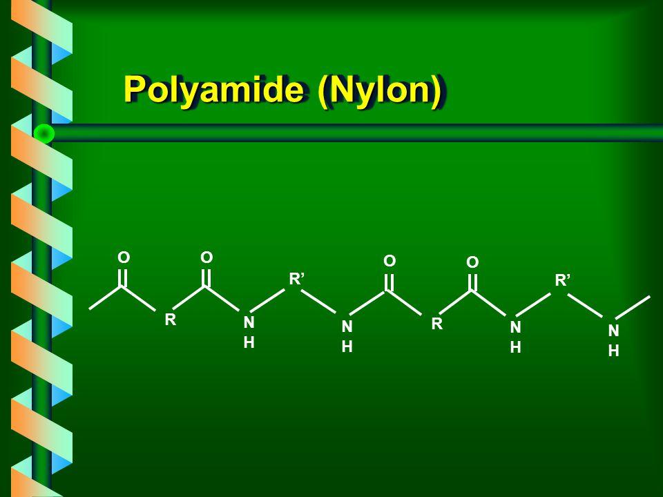 Polyamide (Nylon) R NHNH R' NHNH R NHNH NHNH O O O O