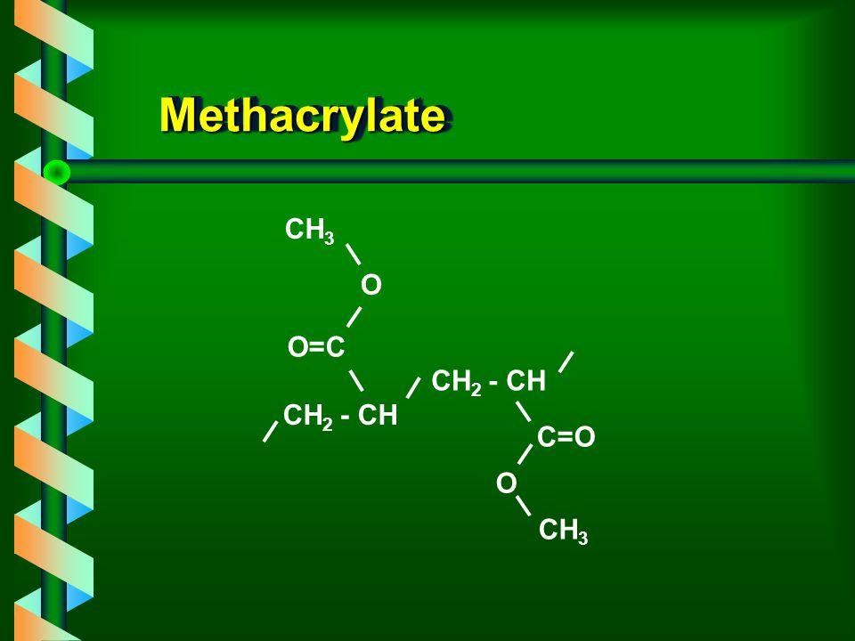 MethacrylateMethacrylate C=O CH 2 - CH O CH 3 CH 2 - CH O=C O CH 3
