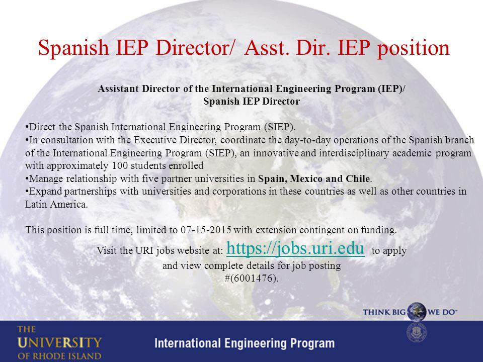Spanish IEP Director/ Asst. Dir.