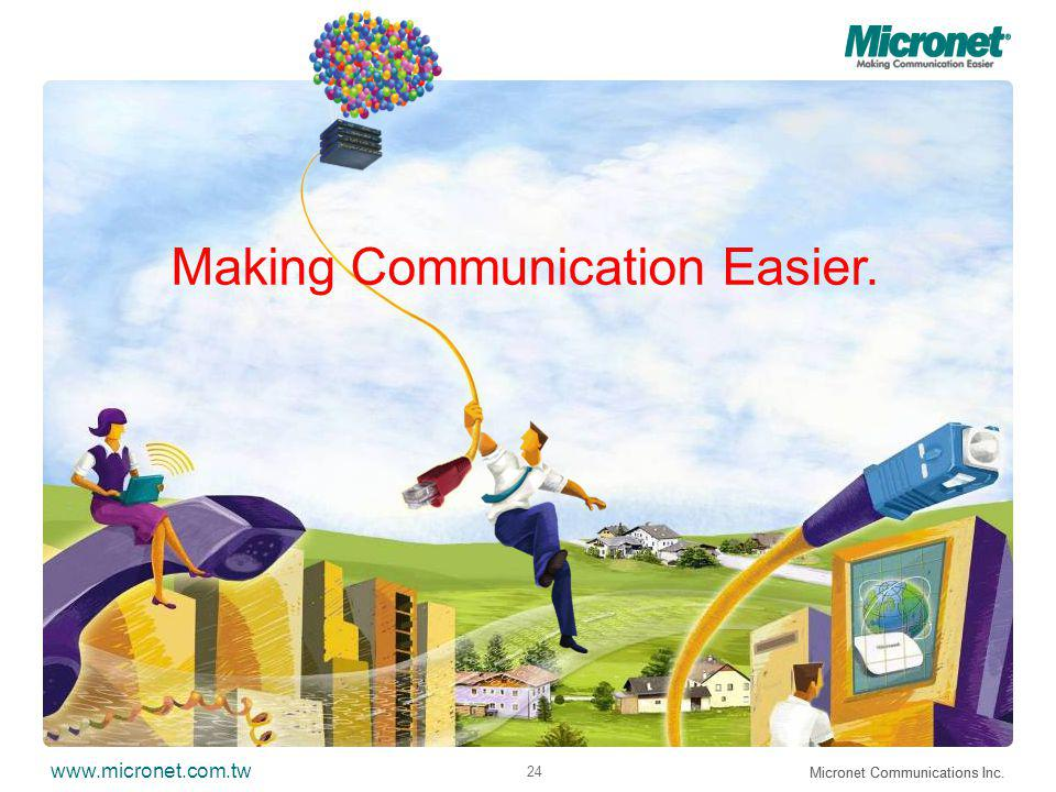 www.micronet.com.tw Micronet Communications Inc. 24 Micronet Communications Inc.
