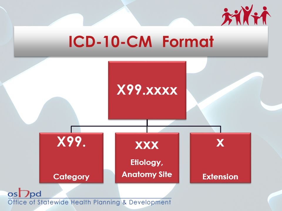 X99.xxxx X99. Category xxx Etiology, Anatomy Site x Extension ICD-10-CM Format