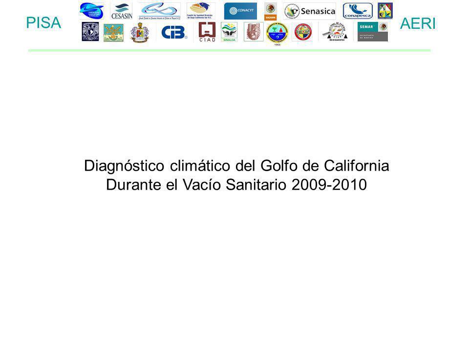 PISA AERI Diagnóstico climático del Golfo de California Durante el Vacío Sanitario 2009-2010