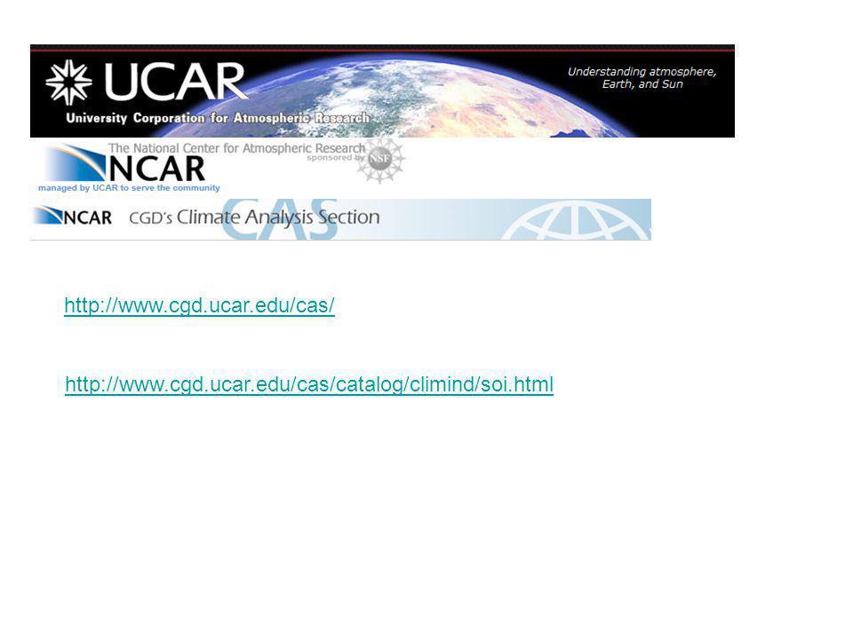 http://www.cgd.ucar.edu/cas/ http://www.cgd.ucar.edu/cas/catalog/climind/soi.html