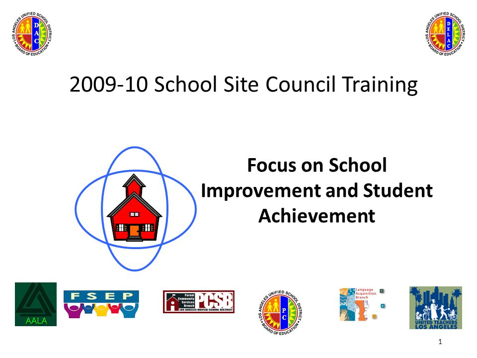 DELACDELAC DACDAC PCPC 2009-10 School Site Council Training Focus on School Improvement and Student Achievement 1