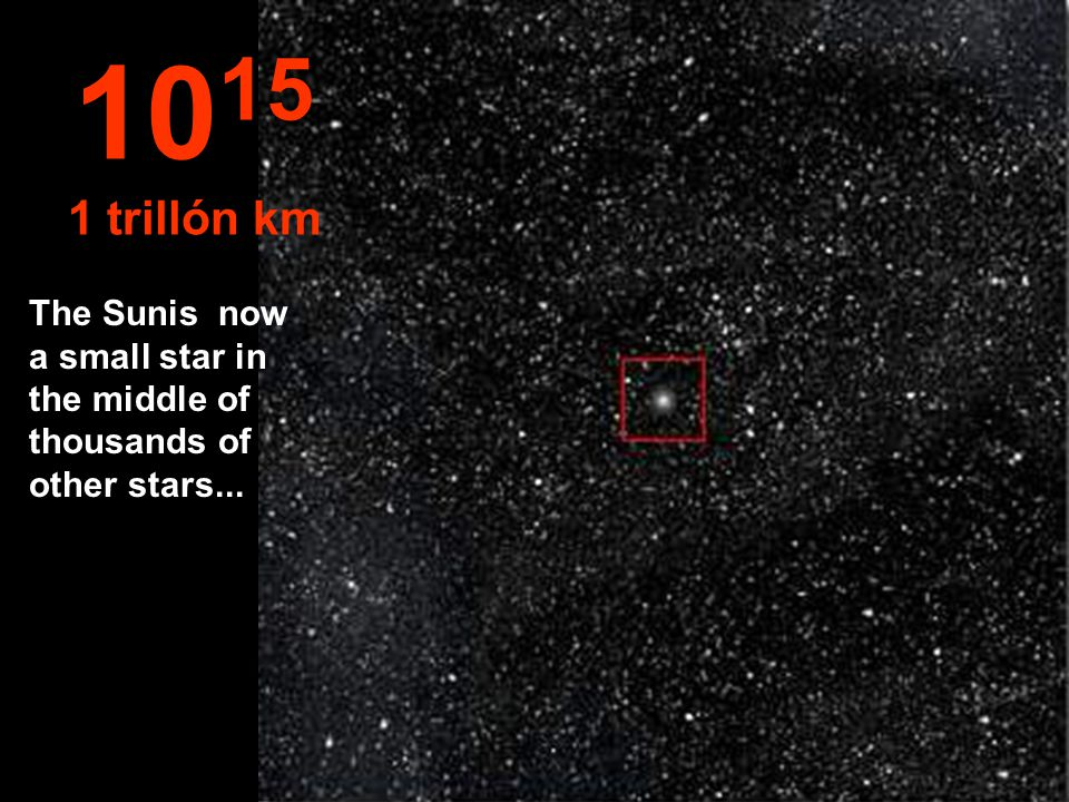 10 14 100 Billon km The Solar System starts looking small...