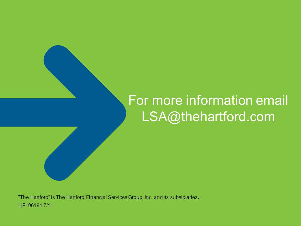 The Hartford is The Hartford Financial Services Group, Inc.