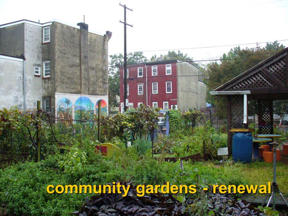 community gardens - renewal