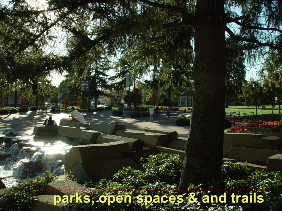 parks, open spaces & and trails