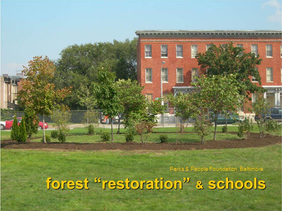 forest restoration & schools Parks & People Foundation, Baltimore
