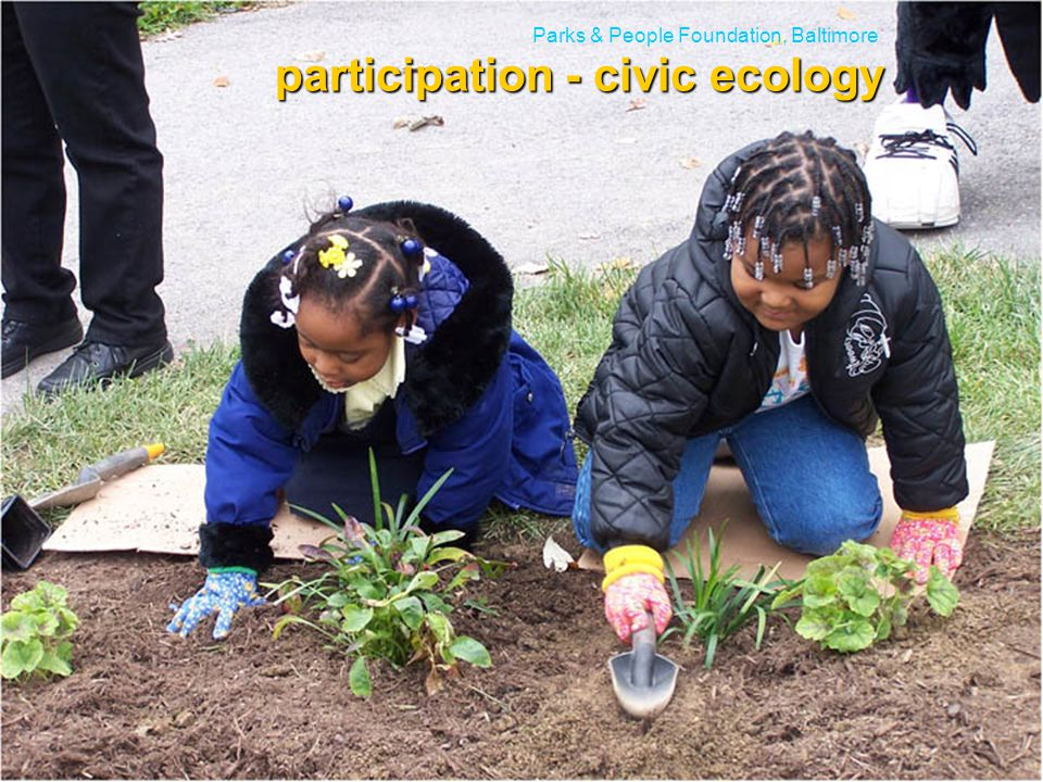 school asphalt recovery Parks & People Foundation, Baltimore participation - civic ecology