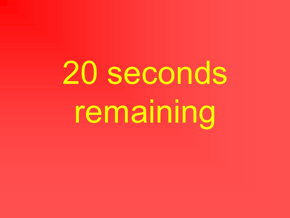 25 seconds remaining