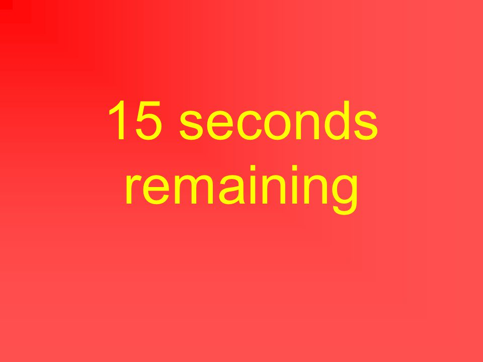 20 seconds remaining
