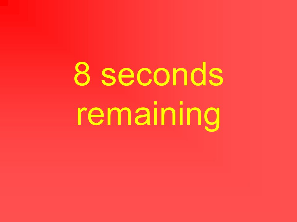 9 seconds remaining
