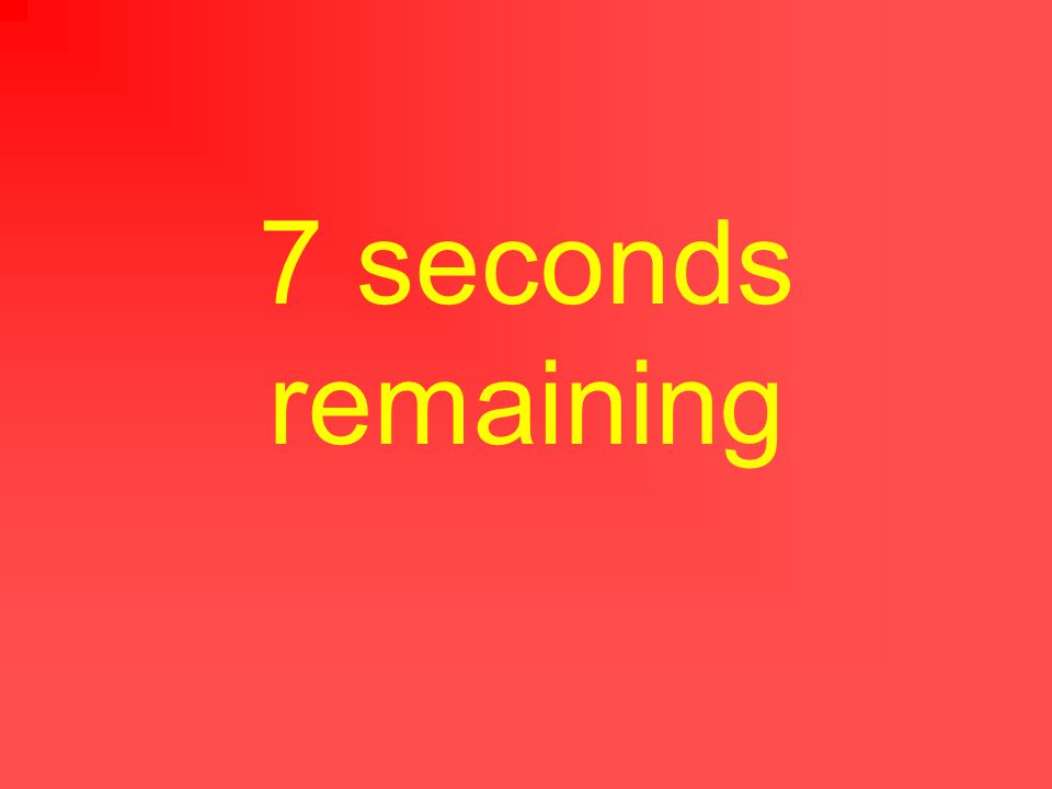 8 seconds remaining