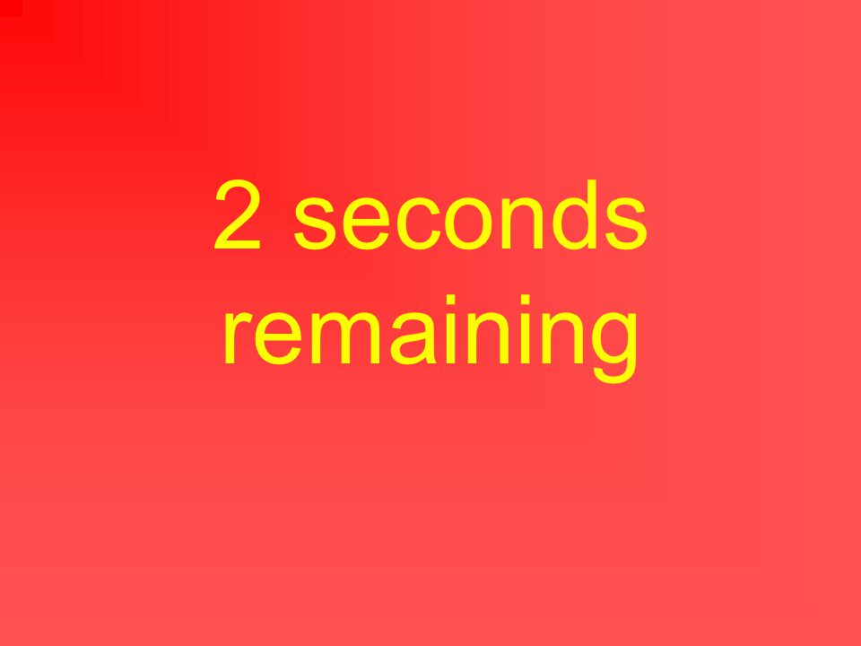 3 seconds remaining