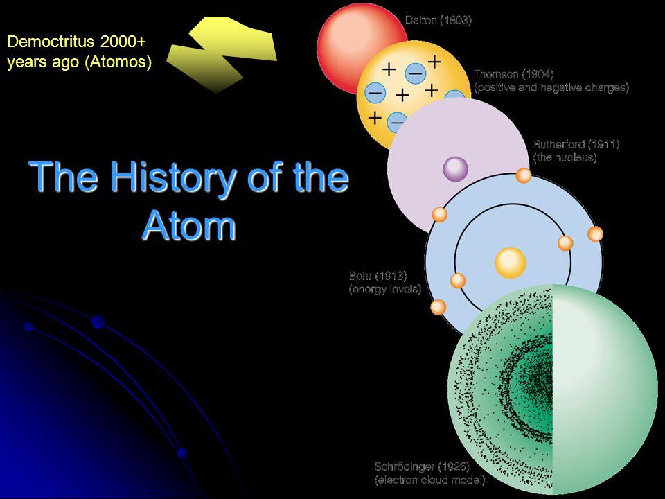 The History of the Atom Democtritus 2000+ years ago (Atomos)