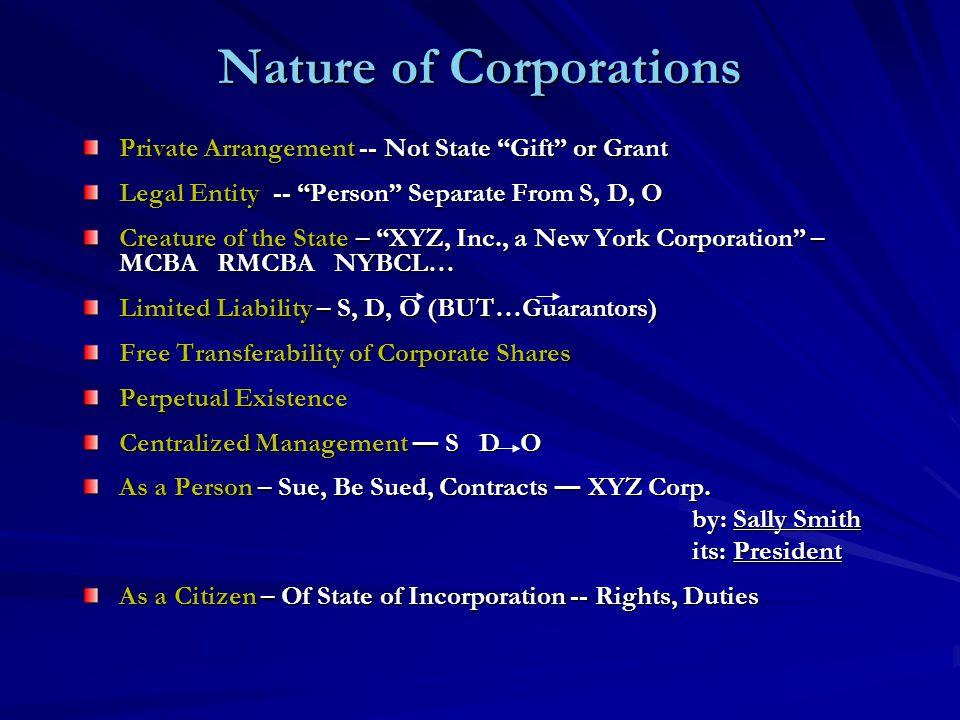Classification of Corporations Public – Governmental Purposes – E.G.