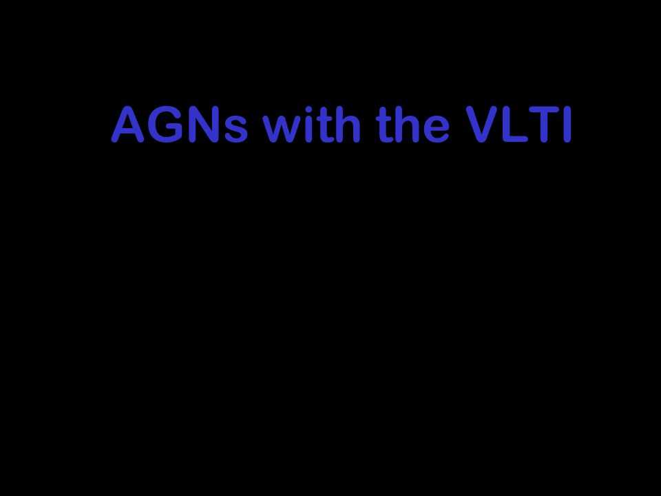 AGNs with the VLTI