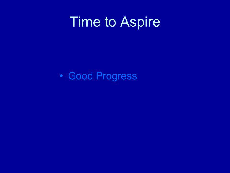 Time to Aspire Good Progress