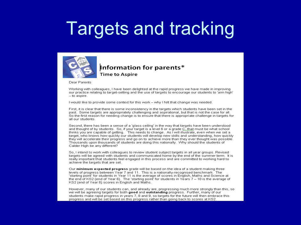 Targets and tracking