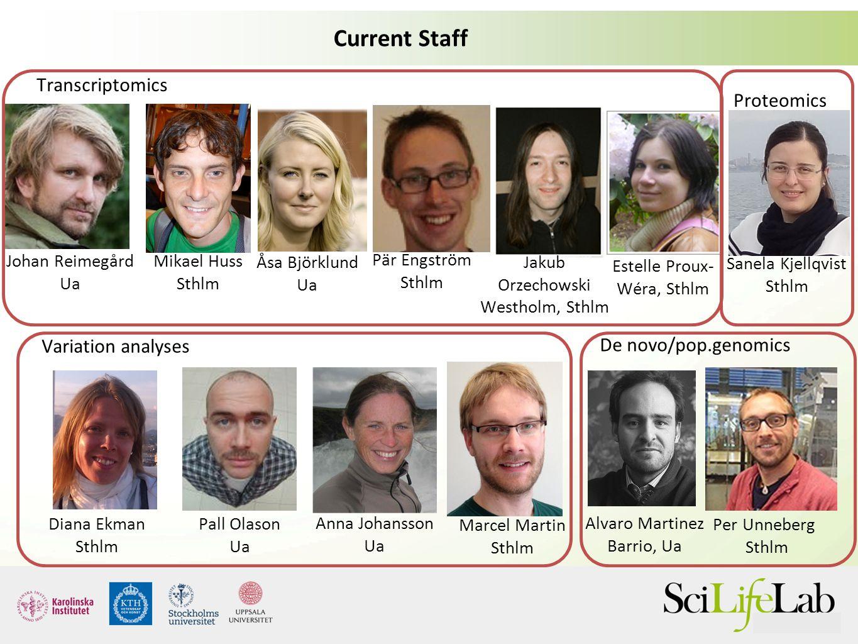 Current status of BILS 45 staff (including 4 fully SciLife-funded staff) 20 Umeå: -- NGS -- Metabolomics -- Proteomics -- Biostatistics -- Metab.