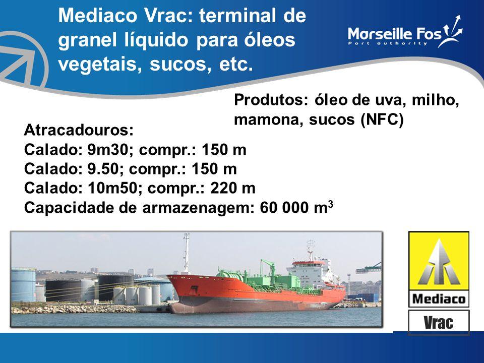 Mediaco Vrac: terminal de granel líquido para óleos vegetais, sucos, etc.