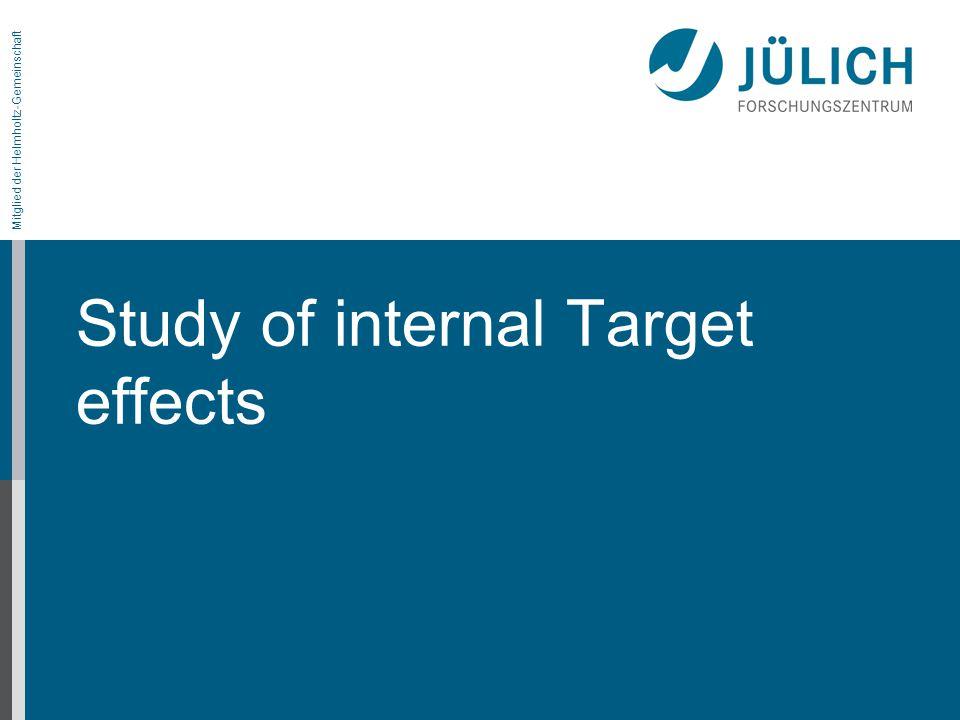 Mitglied der Helmholtz-Gemeinschaft Study of internal Target effects