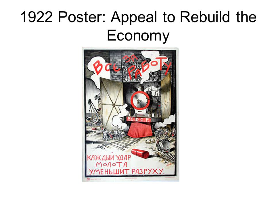 1922 Poster: Appeal to Rebuild the Economy