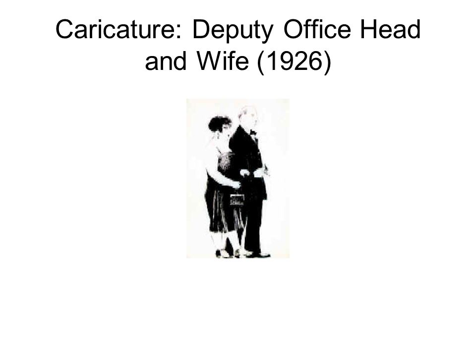 Caricature: Deputy Office Head and Wife (1926)