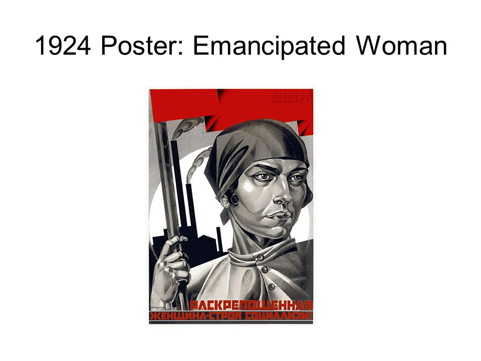 1924 Poster: Emancipated Woman