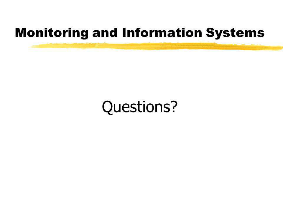 Monitoring and Information Systems Questions?