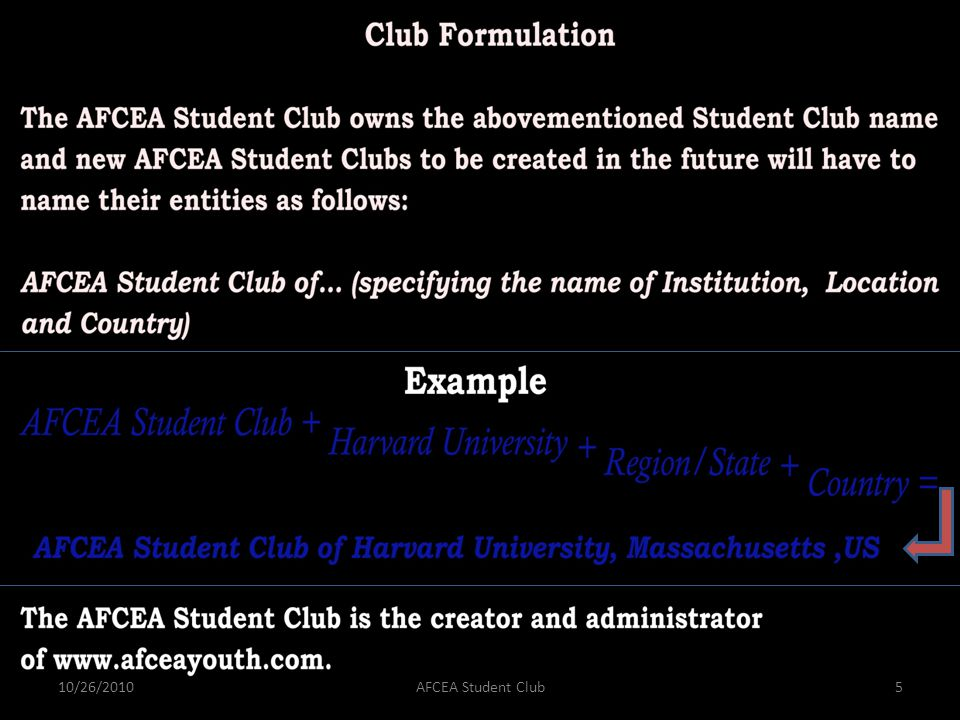 10/26/2010AFCEA Student Club5