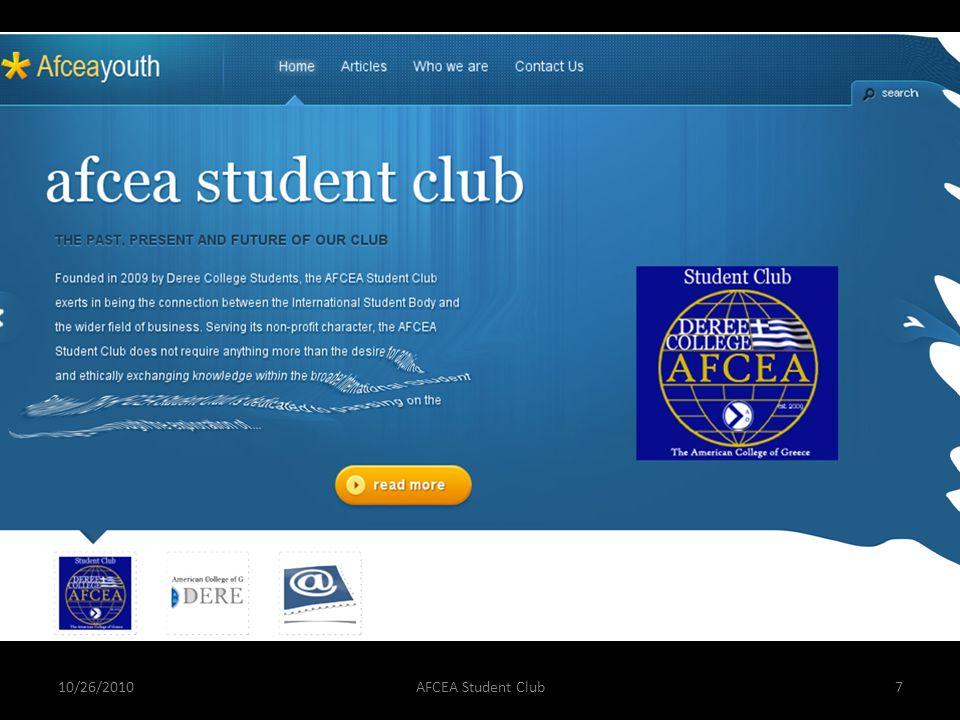 10/26/2010AFCEA Student Club7